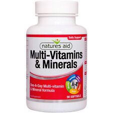 Natures Aid One-A-Day Multi-Vitamins & Minerals - 90 Softgels