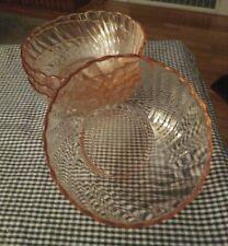 Arcoroc Rosaline Swirl Serving Bowl Pink Glass by ChromaticWit | Decorative  bowls, Pink glass, Bowl