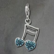 Ciondoli di lusso blu zircone argento sterling