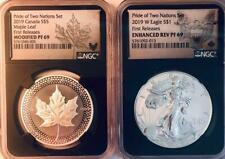2019-W, O  Pride of 2 Nations Set - NGC REV PF-69, Modified PF-69 - Two Coins