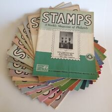 Lot of STAMPS A Weekly Magazine of Philately - 19 issues from 1939 to 1941