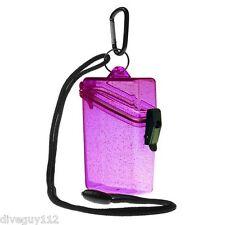 Witz Dry Box Keep it Safe Locker ID Scuba Diving Gear Bag NEW Glitter Box 2 Pink