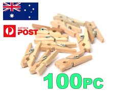 MINI WOOD WOODEN PEGS 30MM NATURAL CRAFT WEDDING CLOTHES PIN LINE PHOTO BABY
