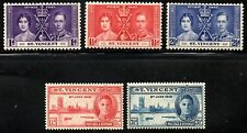 St.Vincent 1937/1946 Coronation & Victory Sets SG.146/148 & 160/161 Mint Hinged
