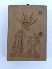 altes Holz Model Springerle Spekulatius Maria & Jesuskind 5 x 7 x 1 cm