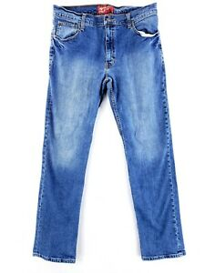 Arizona Slim Straight 34x32 Flex Stretch Denim Blue Jeans Casual Modern Work