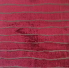 SCALAMANDRE Colony Dune Granade Jacquard Velvet Stripe Remnant New
