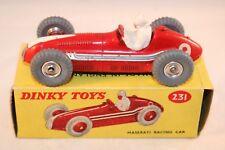 Dinky Toys 231 Maserati racing car SPUN HUBS great condition with original box