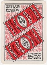 Playing Cards 1 Single Swap Card - Old Wide HIGNETTS SMOKING MIXTURE Tobacco Ad