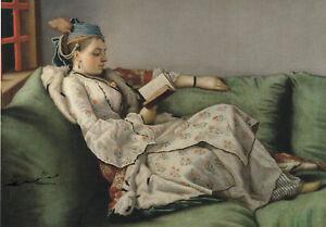 Postkarte: Liotard - Marie Adelaide v. Frankreich mit Buch im türkischen Kostüm