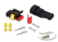 Kit Connecteur électrique 12V étanche -2 voies - cosse - Auto Moto Bateau Quad