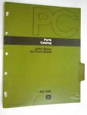John Deere 110 Amp 112 Lawn Tractor 43 Front Blade Parts Catalog Manual Pc 1086