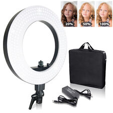 """18"""" Photography Ring Light Lusana Studio Fluorescent 50W 5600K Dimmable w/ Bag"""