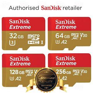 64GB 128GB 256GB SanDisk Extreme Micro SD Memory Card V30 SDXC A2 U3 160MB/s TF