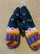 New Girls Old Navy Blue Fairisle Sweater Mittens Size S/M