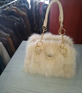 BAG-GENIUE - FUR -NATURAL-COLOR-VERY-SOFT-FAST SHIPPING 5-10 D