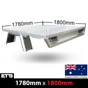 Aluminium Dual Cab Ute Tray Tapered Deluxe Premium Tray 1780W x 1800L(Deck Only)