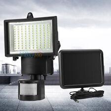 Solar Power Motion Sensor Garden Floodlight 100 LED PIR Security Light