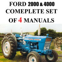 Ford 4000 & 2000 Series Tractor SERVICE PARTS Catalog OWNERS Manual 4 Manuals CD