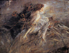 Giovanni Boldini Portrait of the Marquise with peacock pens Oil Painting repro