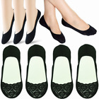 3-12 Pairs Womens Heart Lace Nonslip No Show Boat Liner Invisible Socks Loafer
