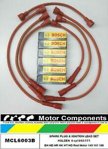 SPARK PLUG & LEADS for HOLDEN EH HD HR HK HT HG Red Motor 149 161 186  9/63-7/71