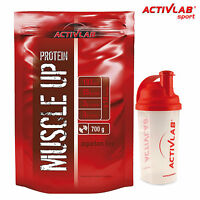 Muscle Up 700g Whey Protein Muscle Mass Builder Free Shaker & Europe Shipping