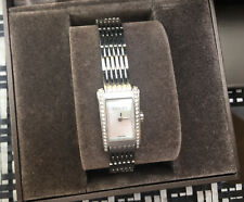 Genuine Gucci 8600L Stainless Steel & Diamond Bezel Ladies Watch