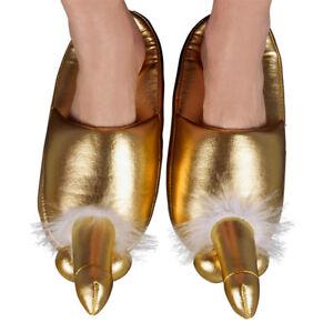 Golden Penis Slippers NOVELTY XMAS PRESENT SECRET SANTA JOKE GIFT ONE SIZE 5-8