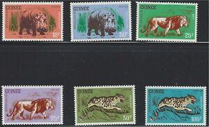 Guinea SC248-253 Wild Animals-Lions-Hippopotomus-Leopard MNH 1962