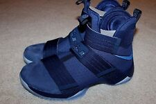 Men's Nike LeBron Soldier 10 SFG Basketball Shoe Midnight Navy Sz 11 844378 444