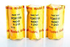 3 X KODAK PORTRA 400 120 / Pellicola negativo a colori