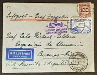 1934 Berlin Germany to Buenos Aires Argentina LZ Graf Zeppelin Air Mail Cover
