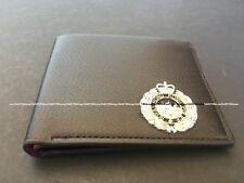 Royal Hong Kong Police Bi-fold Leather Wallet with p.t.u.silver badge, brown