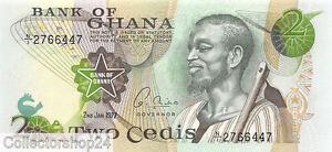Ghana 2 Cedis 1977 Unc pn 14c