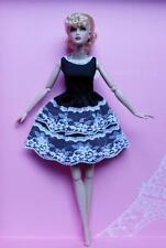 "12"" DRESSMAKER DETAILS~Black/White Party Dress~Fit SIlkstone~Fashion Royalty~New"