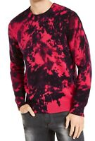 INC Mens Sweater Pink Black Size XL Crewneck Gnover Tie-Dye Pullover $69 #054
