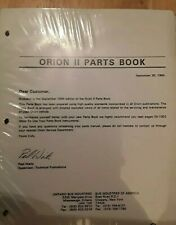 Orion II BUS PARTS BOOK 1994 Orion 2 Manual New in Package