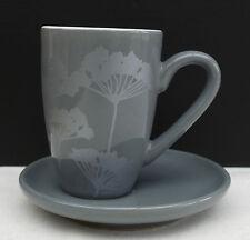 ASA Espresso - Mokkatasse in grau mit modernem Blütendesign !!! Nr 273