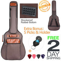 Waterproof Guitar Case Bag Electric Acoustic Classical Pocket Holder 40 41 42 In