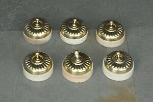 6 Pc Vintage Brass & Ceramic Fine Electric Switches,England