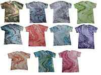 Pick a Multi-Color Marble Tie Dye T-Shirts S M L XL 2XL 3XL Colortone-Gildan