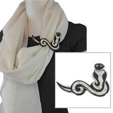 Vintage Painted Wood Cobra Snake Scarf Slide Clip Ring or Tee Tie