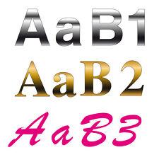 Chiffres lettres adhésifs LETTRAGE découpe personnalisée adhésive vinyle 8 cm