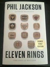 Phil Jackson autographed copy of Eleven Rings Lakers Knicks Signed Book