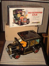 HORIKAWA OLD FASHIONED CAR TIN B/O CAR IN ORIGINAL BOX AND WORKING PERFECTLY!
