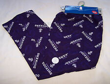 Fremantle Dockers AFL Mens Purple Flannel Sleep Pants Size M New
