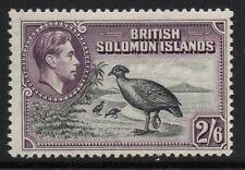 BRITISH SOLOMON IS. SG70 1939 2/6 BLACK & VIOLET MTD MINT