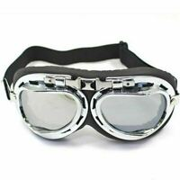 NEW Vintage Aviator Goggles Steampunk Cafe Racer for Harley Davidson Motorcycle