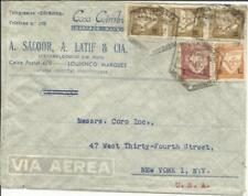Mozambique Sc#268(x3)#264,#269 Great Franking Lourenco Marques 19/3/47 commercia